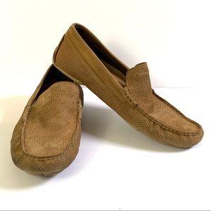UGG Henrick Perf Stripe Driver tan shoes Size 10.5